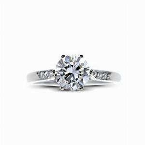 Brilliant Cut 6 Claw Set Single Stone 0.61ct GVS1 IGI
